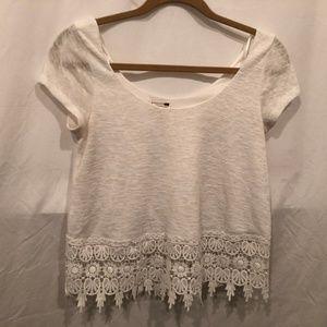🙂LA Hearts Womens XS White Crocheted Top